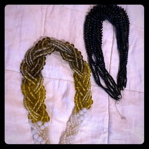 Two Beaded Necklaces - The Limited, Old Navy